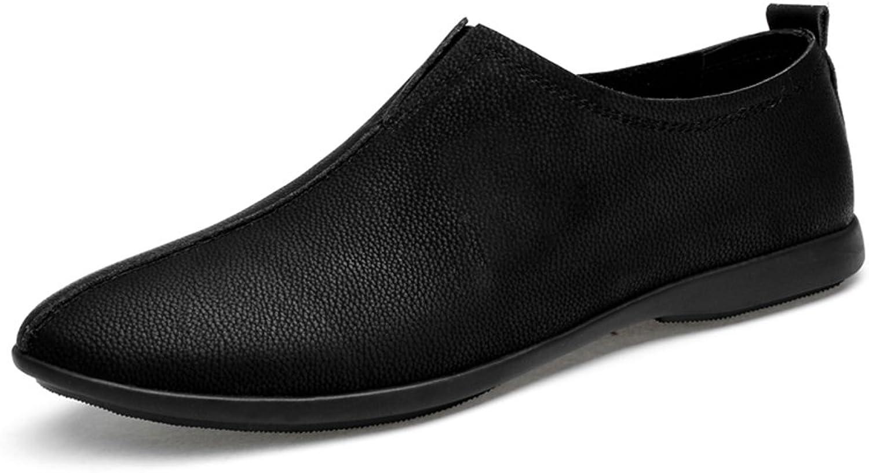 skor läder Springaa Drive skor Comfort Comfort Comfort Loafers och Slip -Ons Driving skor for Athletic Andable Casual utomhus Formal Business Work (Färg  C, Storlek  38)  många medgivanden