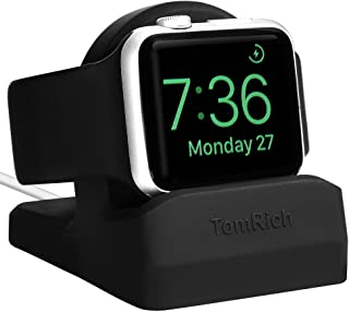 TomRich T90 Apple Watch Stand for Apple Watch Charger with Night Stand Mode for Apple Watch Series 4/ Series 3 / Series 2 / Series 1 / 44mm/42mm /40mm/ 38mm - Black