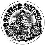 Adhesivos decorativos para casco de moto Harley Davidson Pin