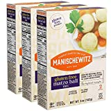 Manischewitz gluten free matzo ball mix is perfect for all of your Passover cooking uses, and makes great matzo balls Delicious treat that taste great in chicken soup or as a side dish 3 boxes per case, 5 oz per box Gluten free, no msg, 0g trans fat ...