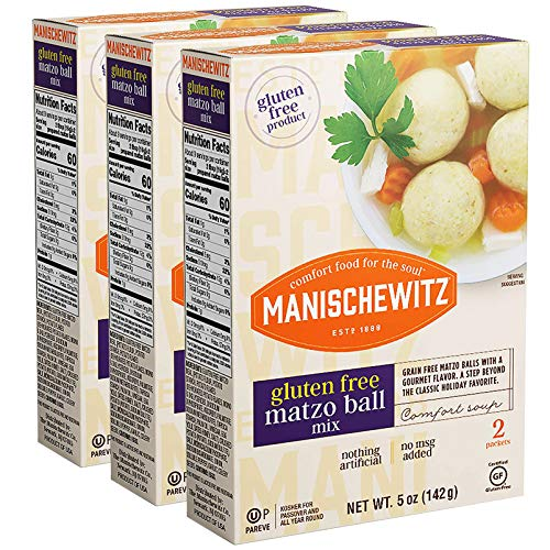 Manischewitz Gluten Free Matzo Ball Mix, 5 Ounce (Pack of 3) Easy to Prepare, Delicious & Authentic Matzo Balls