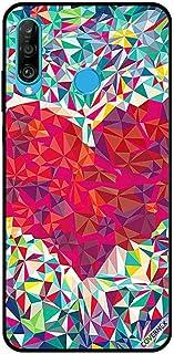 For Huawei P30 Lite Case Cover Diamond Cut Heart