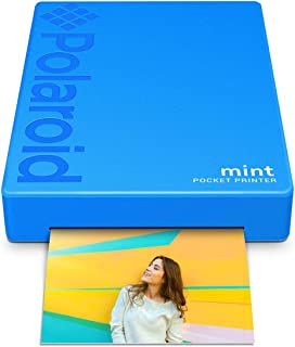 Polaroid Mint Pocket Printer W/ Zink Zero Ink Technology & Built-In Bluetooth for Android & iOS Devices - Blue