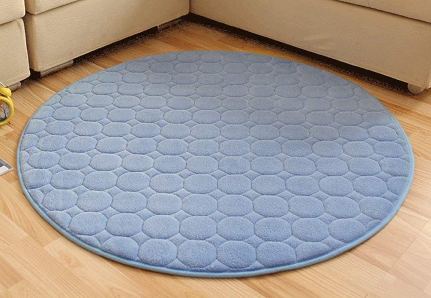 Royare Home Decorations mat Carpet, Thicker Non-Slip Memory Foam Round Carpet Computer Chair Living Room Coffee mats Bedroom Carpet Soft and Comfortable (color    5, Size   120  120cm)