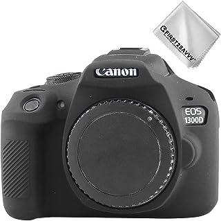 Negro Cuerpo Completo Caucho de TPU Funda Estuche Silicona para cámara para Canon Rebel T6 Rebel T7 Kiss X80 Kiss X90 EOS 2000D 1500D 1300D