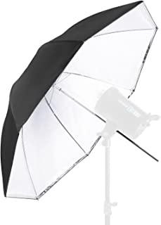 Neewer Convertible Photography Lighting Umbrella for Monolight Flash 45 inches/114.3 Centimeters - White Satin with Removable Black Cover, Light Reflector and Modifier for Photo Studio Shooting