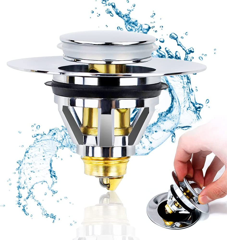Upgraded Bathroom Sink Stopper Drain -Stainless Stopp Max 65% OFF New item Steel