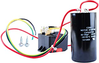 AC Hard Start Capacitor for 5-2-1 CSR-U1, Compressor Saver for 1-2-3 Tons, Hvac Hard Start Kit