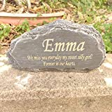 MARYTUMM Personalized Pet Memorial Stone, Custom Dog Memorial Stone, Cat Memorial Stone by Waterproof Resin, Dog Loss Gift