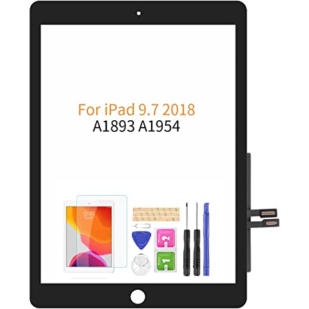 NO LCD,NO Home Button with Free Screen Protector+Repair Tools White A-MIND for IPad 9.7 2018 //iPad 6 6th Gen A1893 A1954 Touch Screen Replacement Parts,