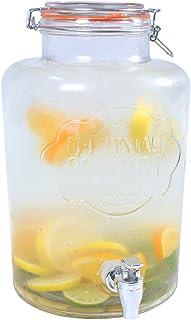 El Vintage Empresa 7,6L 22X 22X 35cm Jumbo dispensador de Bebidas de Cristal con Cierre hermético y Grifo