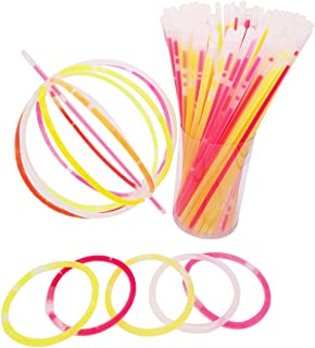 300Pcs Bulk Glow Sticks for Glow Glasses and Glow Hairpin for Kids or Adults in The Party or holidays
