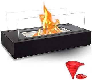 BRIAN & DANY バイオエタノール暖炉 長方形 ポータブル卓上ファイヤーボウルポット バーナー/屋内・屋外両用 35 x 18 x 14.5cm