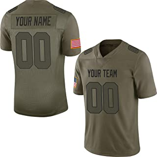Salute to Service Custom Football Jerseys for Men Women Youth Embroidered Your Name & Numbers S-8XL Design Your Own