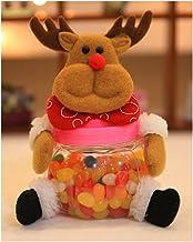 Ducklingup Christmas Candy Jar Plush & Plastic Santa Claus Snowman Elk Bear Cute Sugar Box Piggy Bank Coin Container Decor...