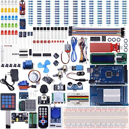UNIROI Mega 2560 Ultimate Starter Kit bietet eine große Anzahl von Modulen und Komponenten für Anfänger UA003
