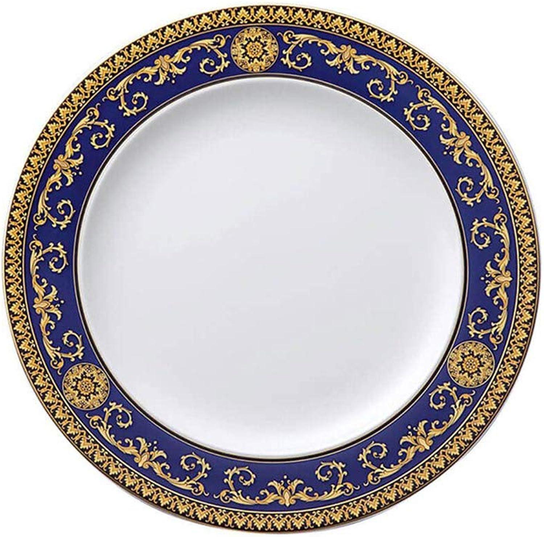 Versace Medusa Assiette Plate 28x28x2.5 cm Bleu