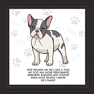 "Bulldogs Gifts 7x7"" French bulldog gifts Tile Artwork for Decoration frenchie Dog Present Art Print Gift for English & Fre..."