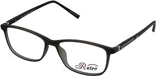 RETRO Unisex-adult Spectacle Frames Rectangular 5204 M.Grey/Black