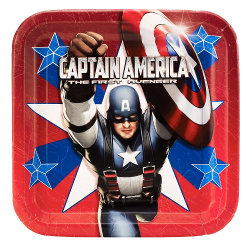 Captain America 8 Count Party Plates