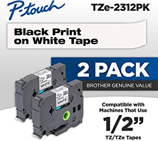 Brother Genuine P-touch, TZE2312PK, 1/2