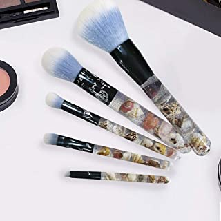 HIGH'S Makeup Brush Premium Synthetic Cosmetics Brush Ocean Series Blush Foundation Powder Eyeshadow Eyebrow Brushes Cameo Shell Handle