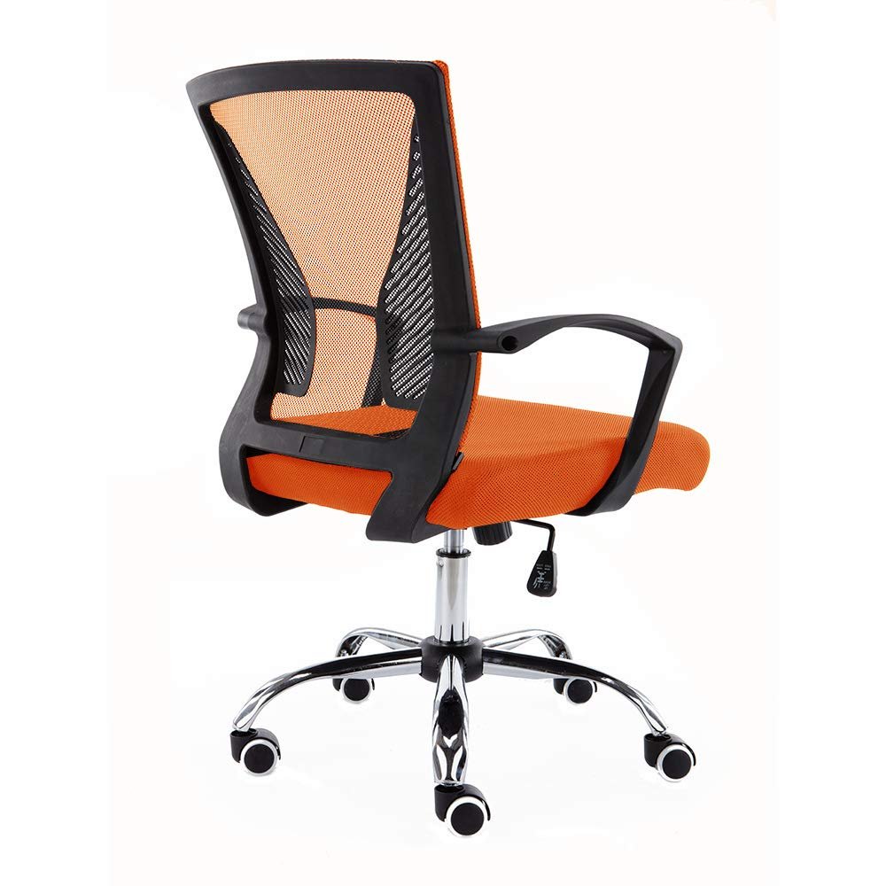 Amazon Com Modern Home Zuna Mid Back Office Chair Black Orange Furniture Decor