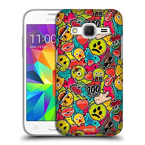 Head Case Designs Ufficiale Emoji Colours Graffiti Cover Dura per Parte Posteriore Compatibile con Samsung Galaxy Core Prime