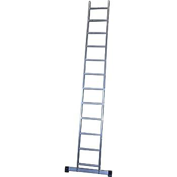 ALTIPESA Escalera Profesional de Aluminio de Apoyo Simple con Barra estabilizadora 11 peldaños Serie Basic: Amazon.es: Hogar