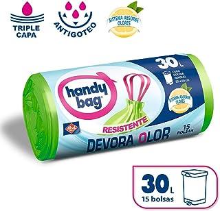 Handy Bag Bolsas de Basura 30L, Extra Resistentes, Elimina