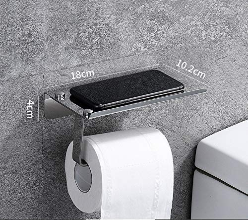 ZLJ Toilet paper holder 304 stainless steel toilet paper holder with adhesive and screws