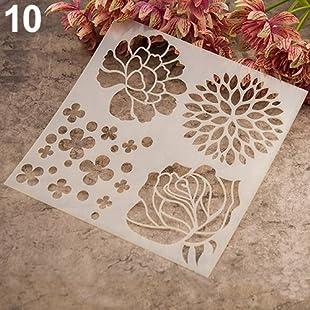display08 Fashion Painting Template Stencil Scrapbooking Album Cake Coffee DIY Art Craft (10)