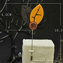 Men Women Cocktail Suit Corsage Lapel Stick Flower Pin Scarf Brooch Breastpin | StyleID - #13-Gray+Yellow