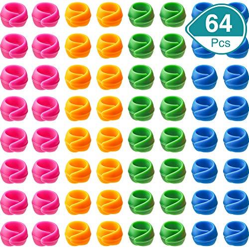 64 Piezas Abazaderas de Bobina Protectores de Carretes de Hilo Abrazaderas de Hilo para Evitar Hilos Desenrollar No Hay Extremos Sueltos para Suministros de Costura