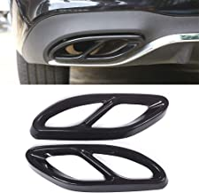 Exhaust Tailpipe Cover Trim For Mercedes Benz GLC A B C EClass W205 Coupe W213 W176 W246 2016-19 Stainless Steel Car Accessory Styling (black)