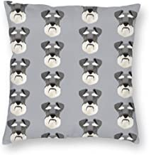 Pillowcases Schnauzer Head Dog Head Dogs Pets Pet for Sofa Bedroom livingroomTwo Sides Printing 18x18 inch