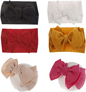 Newest Baby Girl Bow Headbands Newborn Hairband Turban Knotted Headband Nylon Elastic Headwraps