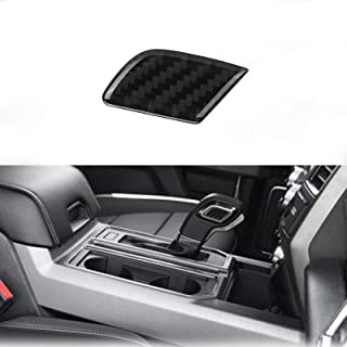 nuoozy Compatible with Carbon Fiber Gear Shift Knob Cover Trim for Ford F-150 2015 2016 2017 2018 2019 2020 Black