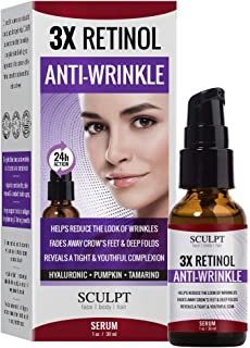 SCULPT 3X Retinol Anti-Wrinkle Facial Serum 1oz / 30ml