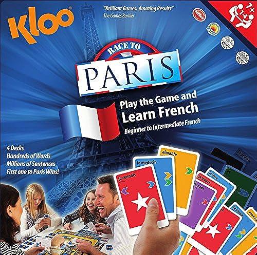 KLOO Brettspiel Lerne Franz ch zu sprechen (aus dem Englischen) - Race to Paris