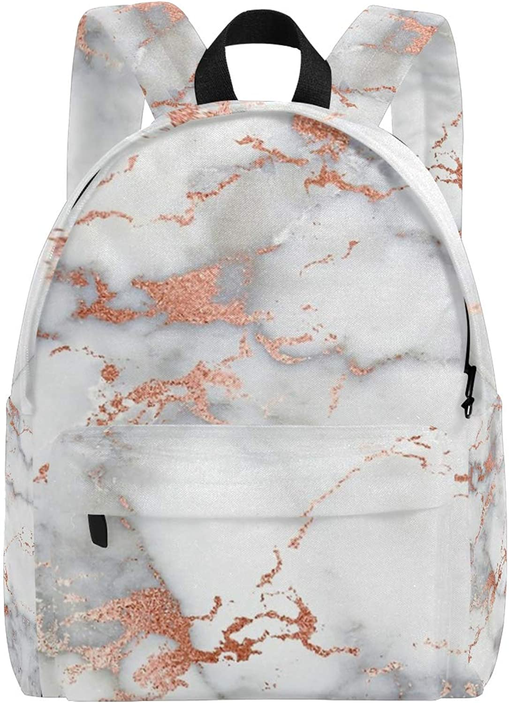 Humphy Albe Backpack pink gold Streaks Marble Classic Backpack Bookbag