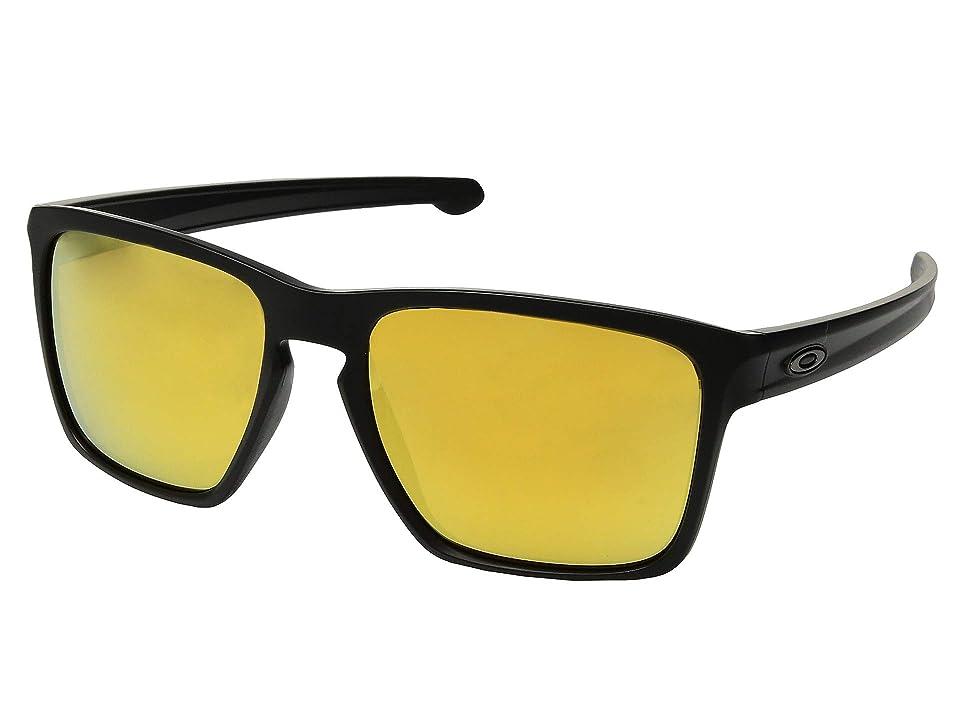 Oakley Sliver (VR46 Polished Black/Fire Iridium) Sport Sunglasses