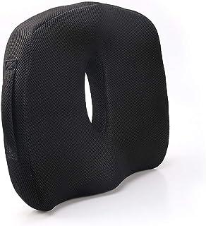 lijunjp El cojín para Silla de Espuma viscoelástica Proporciona Alivio para el Dolor Lumbar, la ciática, la próstata, etc. para sillas de Oficina, automóviles, sillas de Ruedas, etc.