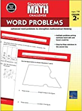 Singapore Math – Challenge Word Problems Workbook for 2nd, 3rd Grade Math, Paperback, Ages 7–8 with Answer Key