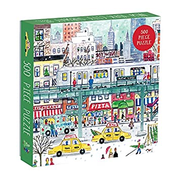 Galison Michael Storrings 500 Piece New York City Jigsaw Puzzle for Adults and Families Holiday Puzzle with Winter Scenery in New York City  ERROR #N/A