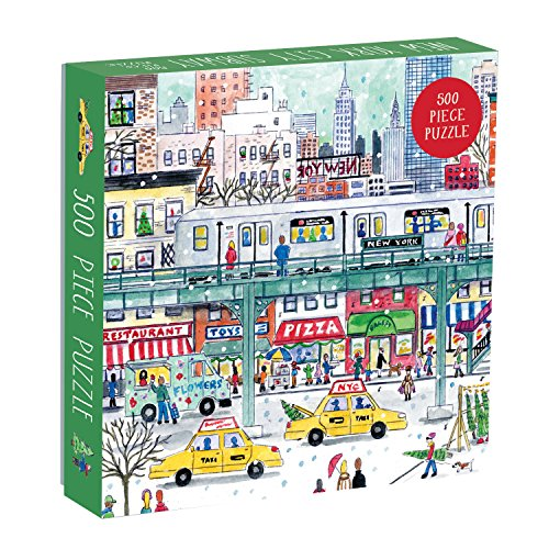 Galison Michael Storrings 500 Piece New York City Jigsaw Puzzle for Adults and Families, Holiday Puzzle with Winter Scenery in New York City (ERROR:#N/A)