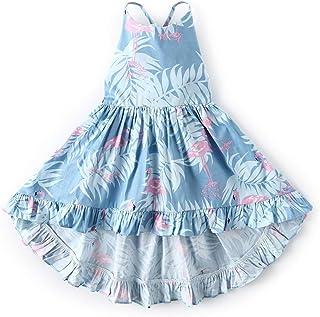 KISSOURBABY GirlsDresses Summer Kids BabyPartyFloral Dress 1-10 Years