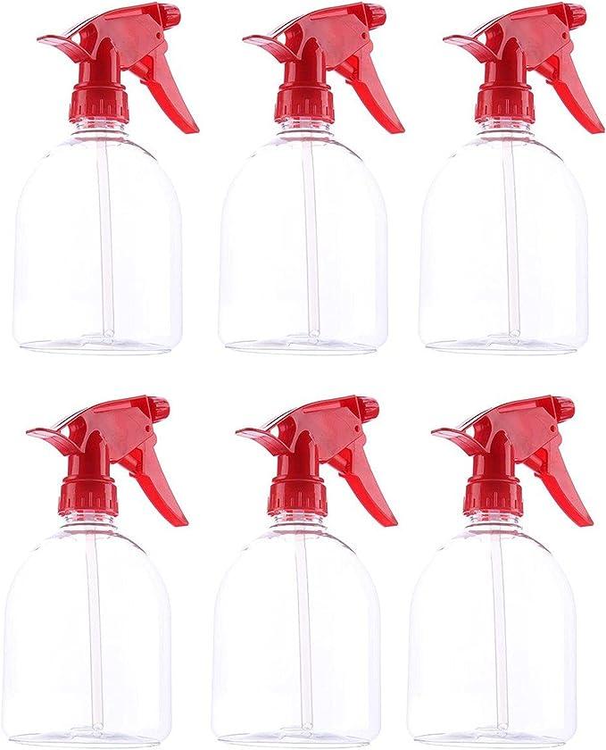 434 opinioni per Flacone Spray di Plastica Rossa (6 Pezzi)- 500ml di Capacità, Grilletto Spray