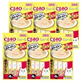 【Amazon.co.jp限定】 チャオ (CIAO) キャットフード CIAOちゅ~る とりささみ&鶏なんこつ 14g×4本×6袋パック