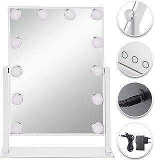 VEVOR Miroir de Maquillage avec Éclairage LED Miroir Maquillage Lumineux Miroir de Courtoisie Luminosité Réglable Miroir d...